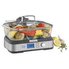 cuisinart cookfresh digital glass steamer with bonus tongs kale