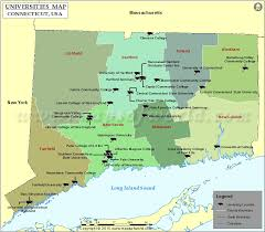 connecticut on map list of universities in connecticut map of colleges and