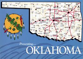 State Map Of The Usa detailed map of oklahoma state with roads and highways oklahoma