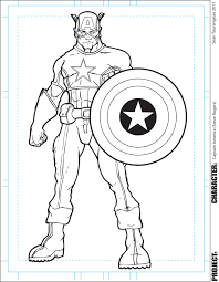 download captain america color page ziho coloring
