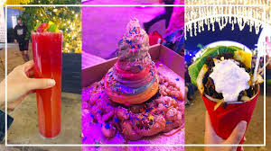 eat street rainbow funnel cake lamb in a cone mocktails
