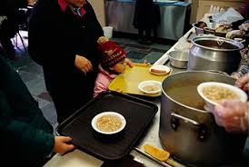 Soup Kitchens In New York by People At Soup Kitchen Pictures Getty Images