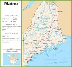Map Of Ne Maine State Maps Usa Of Me Exceptional Map Usa Maine State Map