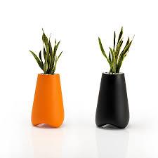 orange planter round glazed ceramic planter in orange set of 3 new