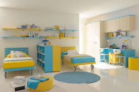 Kids Room Design Image by Pink Kids Bed With Yellow Campaign Nightstand Shades Of Blue