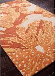 Wool Modern Rugs Modernrugs Orange Reef Coastal Modern Rug Fiery Oranges