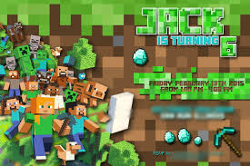 Minecraft Invitation Cards The Real Housewife Of Tazewell County