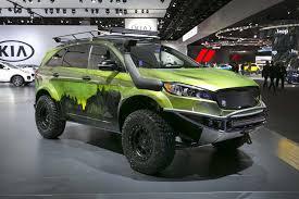 green zombie jeep kia sorento pacwest adventure concept autos ca