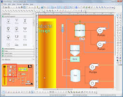 visio floor plan template scada and industrial hmi displays and process flow component