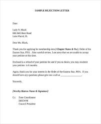37 rejection letter sample free u0026 premium templates