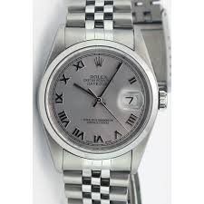 silver rolex bracelet images Rolex datejust silver roman jubilee bracelet 16200 watch chest jpg