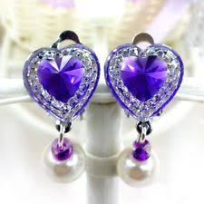clip on earrings for kids rhinestone clip fashion earrings ebay