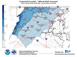 Northern Virginia Map Ice Snow Projections For Northern Virginia On Sunday Weather