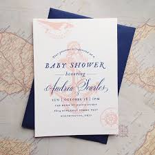 nautical baby shower invitations vintage nautical baby shower invitations cheer up letterpress