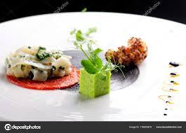 cuisine haute haute cuisine gourmet appetizer stock photo vision si 176693870