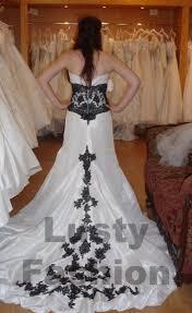 Black And White Wedding Dress Black And White Wedding Dresses 1 Lustyfashion