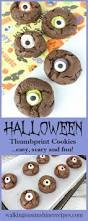recipe fun halloween chocolate thumbprint cookies with scary