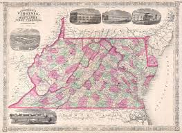 Map Of West Va File 1864 Johnson U0027s Map Of Virginia Delaware Maryland And West