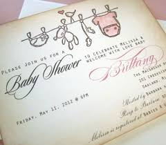 vintage style baby shower invitations invitation ideas