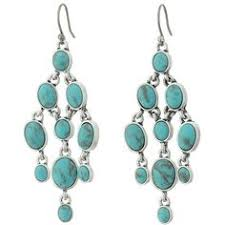Turquoise Chandelier Earrings Polyvore Silver Turquoise Chandelier Drop Earrings 21 Liked On