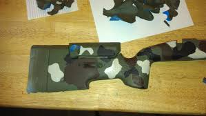 rifle stock camoflauge painting dyi a how to guide gun reviews