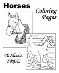 48 free printable horse coloring pages horse craft