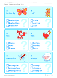 singular vs plural nouns set of printables for kids learning