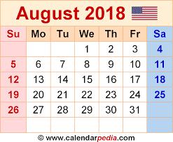 august 2018 calendar calendar 2017 printable