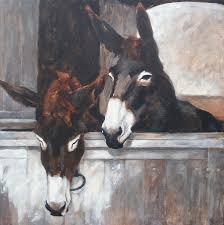 donkeys painting by anke classen