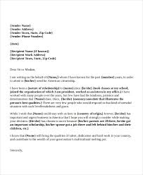 immigration reference letter sample for a friend template design