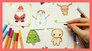 How To Draw Kawaii Cards Christmas Series Youtube