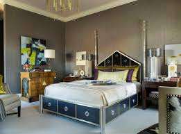 amazing interior paints schemes for bedroom with grey themed and