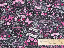 pink ribbon fabric black pink ribbon keep calm breast cancer survivor fabric by the 1 2