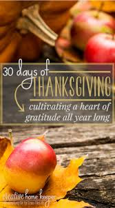 30 days of thanksgiving cultivating a of gratitude all year
