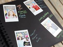 polaroid guest book album polaroid guest book album chica and jo