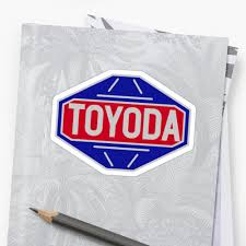 classic toyota logo original toyota logo u0027toyoda u0027 sticker