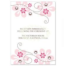 reception card pink brown reception card templates fuschia do it