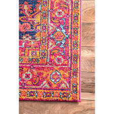 Beautiful Rugs by Amazon Com Traditional Vintage Katrina Blooming Rosette Pink Area