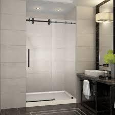 Shower Frameless Glass Door Langham 48 X 77 5 Completely Frameless Sliding Shower Door W