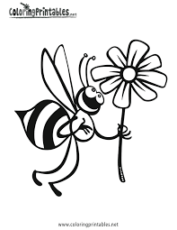 cartoons coloring pages bee coloring pages