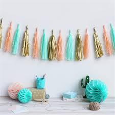Curtains With Pom Poms Decor Aliexpress Buy 5pcs Set Wedding Tissue Paper Tassels Garland