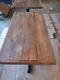 reclaimed wood restaurant table tops kfc kitchen equipment furniture and kf on reclaimed wood table top