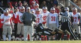 east longmeadow wins thanksgiving day football on the road