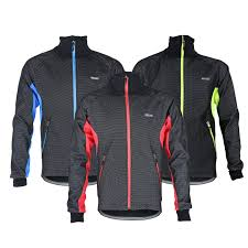 arsuxeo men sports cycling clothes bike bicycle winter coat jersey