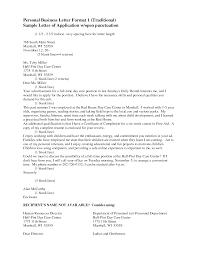 Full Block Letter Format Example by 7 Best Images Of Traditional Business Letter Format Personal
