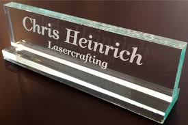 Name Plates For Office Desk Office Desk Name Plate 1 2 Glass Like Acrylic