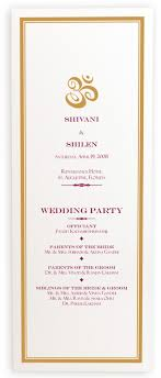 indian wedding programs indian wedding program book with ganesha and hindu wedding