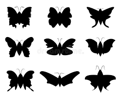 butterfly silhouette stock vector illustration of 40421107