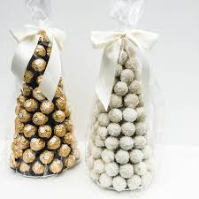 ferrero rocher tower chocolate centre piece by sweet trees