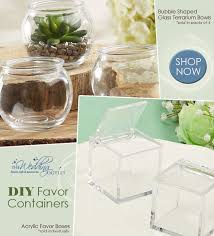 wedding favor containers diy wedding favor containers acrylic boxes glass terrarium bowls